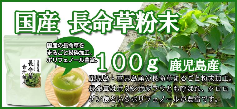 長命草青汁粉末100g