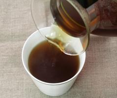 国産ハトムギ茶の出来上がり