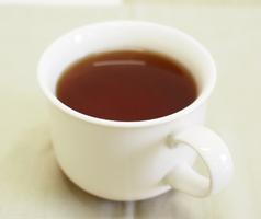 ザクロの種茶の出来上がり