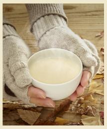 エゾウコギ茶を飲む